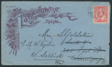 1905 Lansdowne Hotel Regina Advert Cover, Winnipeg & Moose Jaw RPO Early Date