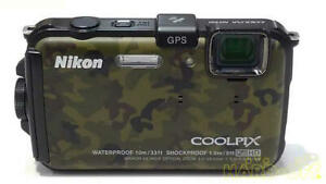Digital Camera Nikon COOLPIX AW100 Cool! Camouflage Color Japanese Import
