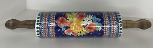 """Rare Pioneer Woman Rolling Pin 18"""" Fiona Floral Rolling Pin Farmhouse"""
