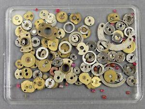 Konvolut Ersatzteile f Taschenuhr Uhrwerk Uhrmacher Uhr watchmaker pocket watch