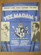 VINTAGE SHEET MUSIC - WHAT ARE YOU GOING TO DO - PIANO VOICE UKULELE