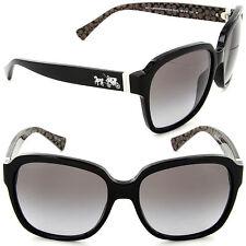 Coach HC 8185 5261/11 Square Sunglasses Black/Grey Lens