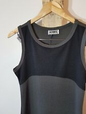 Vintage 90s 2000s Y2k Black Grey Basic Spring Summer Dress