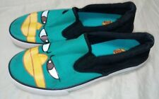 Disney Phineas and Ferb Slip On Boys Shoes Youth Size 5.5