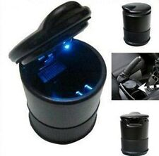 Auto Accessories illuminated Ashtray Car Ashtray With Led Light Easy Clean Black