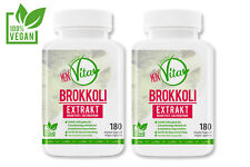 2 x MeinVita Brokkoli Extrakt 1000 mg hochdosiert, 360 Kapseln vegan Antioxidanz