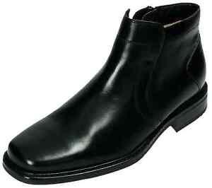 Klondike Stiefel Leder Schuhe Reißverschluss schwarz MH-088H02 40 - 46 Neu31