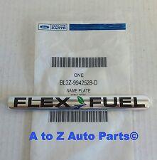 2010-2012 Ford F-150 Rear Chrome FLEX FUEL Nameplate / Emblem, OEM Ford