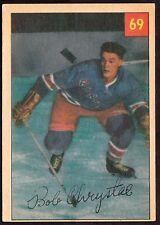 1954-55 PARKHURST #69 BOB CHRYSTAL - NEW YORK RANGERS - HOCKEY CARD