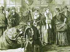 WOMEN'S CRUSADE INTEMPERANCE LIQUOR 1874 Print Matted