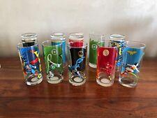 Lot 10  verres COMICS MARVEL jamais utilisés hauteur 16,5 cm