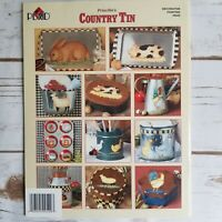 Plaid Priscilla's Country Tin Tole Painting Art Book Paint on Tin 12 Patterns