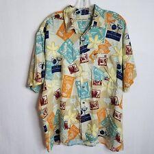Munsingwear Mens Size Large Hawaiian Cocktail Button Front Camp S/S Shirt S328