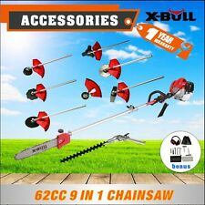 X-BULL 62CC Pole Chainsaw Brush Cutter Whipper Snipper Hedge Trimmer Tree Pruner