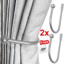 2x Large Stylish Curtain Hold Back Metal Tie Tassel Arm Hook Loop U Shape Holder
