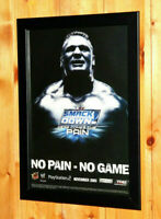 2003 WWE SmackDown! Here Comes the Pain Small Poster / Old Ad Page Framed PS2