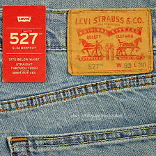 Levis 527 Jeans Mens New Slim Boot Cut Size 33 x 30 LIGHT BLUE Stretch Levi's