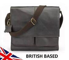 Mens Genuine Leather Messenger Bag Satchel Laptop Case