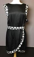 KINDER AGGUGINI for IMPULSE Black White Trim Sleeveless Dress size 8 NWT Macy's