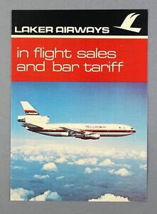 LAKER AIRWAYS DOUGLAS DC-10 VINTAGE INFLIGHT SALES & BAR TARIFF BROCHURE