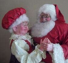 DANCING mr mrs SANTA CLAUS clothtique FIGURINE CHRISTMAS decoration sculpture