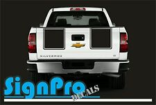New 2010-2012 fits Chevy Silverado Hood Tail Stripe Decals Rally 2 Styles