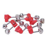 Rot Kunststoff-C Doppel Rod Bissanzeiger Angel Glocken 6 Stueck