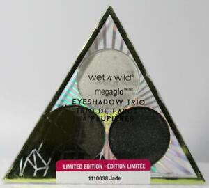 Wet n Wild  megaglo Eye Shadow Trio # Jade  Limited Edition Free S&H
