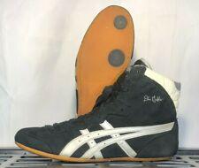 Asics Dan Gable Classic Wrestling Shoes Size 10.5 (2004) Black Silver Rare