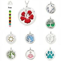 Aroma Pendant Necklace Stainless Steel Essential Oil Diffuser Locket Size 30mm