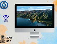 "APPLE IMAC A1224 20"" INTEL CORE 2 DUO 8GB RAM-120GB SSD WEBCAM DVD SILVER"