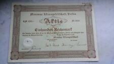 RM 100  Minimax Aktiengesellschaft, 1938, sehr originell