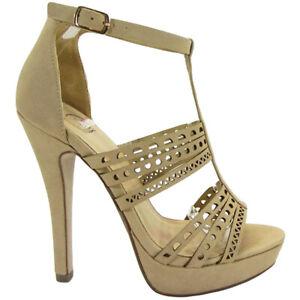 Delicious Women's Belong T-strap Block Heeled Sandal, Natural NB, 7 US