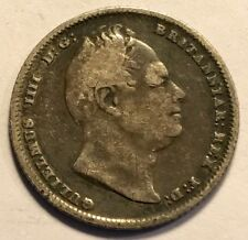 GREAT BRITAIN - William IIII - Silver Sixpence 1834 - KM-712 - FREE SHIPPING!