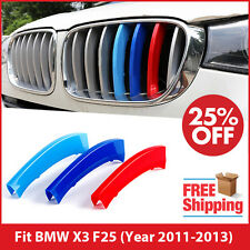 M-Tech Kidney Grill Grille 3 Colour Cover Clips for BMW X3 F25 Year 2011-2013