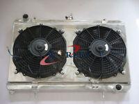 3 Row Aluminum Radiator for alloy Nissan Silvia S13 SR20DET+ Fan Shroud + fan