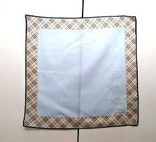 Burberry Bandana Pocket Square Handkerchief Neckerchief Nova Check Beige Blue