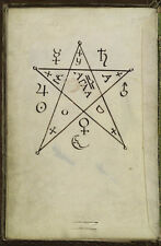 """The Key of Hell Cyprianus Black Magic 18th Century, 7x5"""" Reprint Witchcraft"""