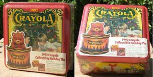 1992 CRAYOLA COLLECTIBLE HOLIDAY TIN & CONTENTS - NEW