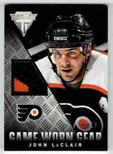 2013-14 GAME WORN GEAR JOHN LECLAIR PATCH 2 COLORS 12/25 CS PHILADELPHIA FLYERS