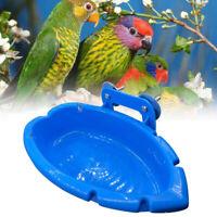 Bird Baths Tub Bowl Basin Parrot Cage Hanging Bathing Box Parrot Feeder