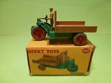 DINKY TOYS 27G 342 MOTOCART MOTOCARRETA - GREEN + BROWN - NEAR MINT IN BOX