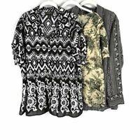 LOT Lane Bryant Women Top Blouse Plus Size 22 24 Chiffon Button Down Front $257