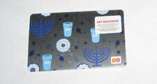 1 NEW DUNKIN DONUTS HAPPY HANUKKAN GIFT CARDS NO CASH VALVE GREAT GIFT CARD