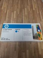 Q6001A 124A Genuine HP Cyan Toner Color LaserJet 1600 2600N 2605 2605DN