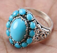 925 Sterling Silver Sleeping Beauty Turquoise Gemstone Design ring size 5