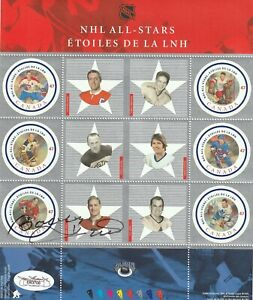 BOBBY HULL AUTOGRAPHED SIGNED CANADA STAMP SHEET  JSA