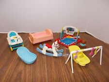 FISHER PRICE Loving Family baby Dollhouse Lot Horse Bath Tub Seat Blanket & More