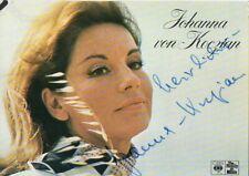 Autogramm - Johanna von Koczian