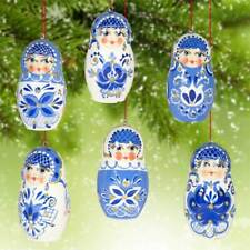 Christmas Ornaments Gzel Style Painted Wooden Russian Christmas Tree Decor 005